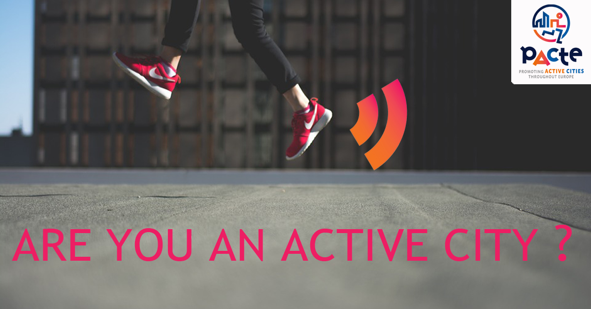 A runner, jumping. Are you an active city?