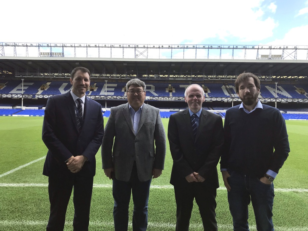 The group at Goodison Park, home of Everton Football Club.